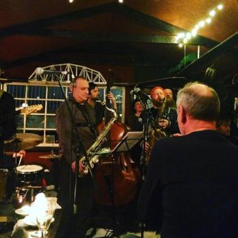 the great George Garzone sitting in with my band at Bådudelejning