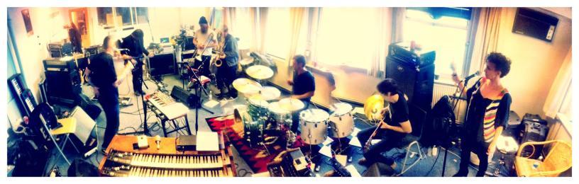 The Sandmen rehearsal