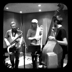 NF, Hyhne, Munch-Hansen, recording one of Nicolai's 3 beautiful records